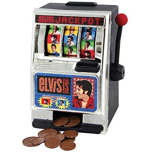 Elvis Presley Vegas Style Slot Machine Coin Bank - Fun Desktop Money Saver