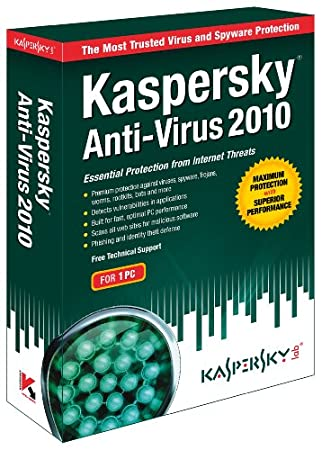 Kaspersky Antivirus 2010 1-User