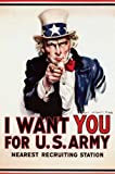 I Want You Uncle Sam Poster Art Print