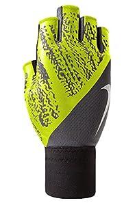 Nike Men's Dynamic Training Gloves (L, Cool Grey/Volt/White)