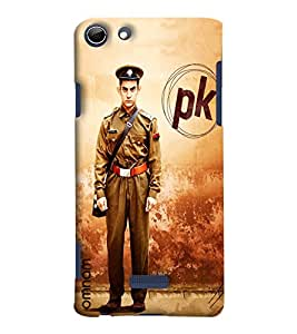 Omnam Amir Khan Standing In Police Dress Pk Posture Designer Back Cover Case For Micromax Selfie 3 (Q348)