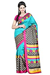 Shree Fashion Hub Multicolor Printed Art Silk Saree