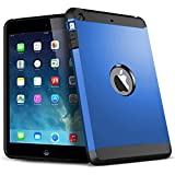 Flystone® Premium Heavy Duty Shockproof Armor Hybrid Case Back Cover for iPad Mini 1 2 3 (Dark Blue) Comes With FlyStone Microfiber Cleaning Cloth.