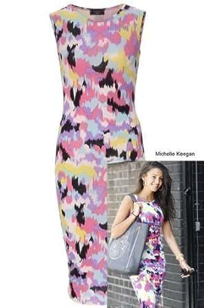 Celeb Look Michelle Keegan Splatter Bodycon Midi Dress