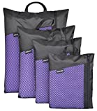 "Sinland Microfiber Ultra Compact & Fast Drying Travel Towels(Purple, 32""x60"")"