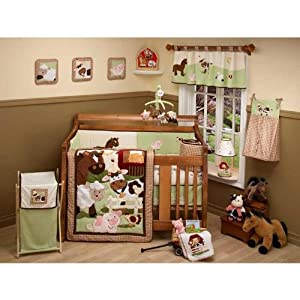 NoJo Farm Babies 5 Piece Crib Set