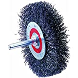 "Walter 13C175 Crimped Wire Mounted Brush, Stainless Steel 304, 3"" Diameter, 0.0118"" Wire Diameter, 12000 Maximum RPM"