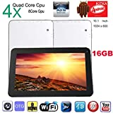 "Tablet PC 10.1"" Android 4.4.2 KitKat, A31S Quad Core, 1 GB RAM, 16GB Hard Drive in White"