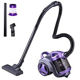 Yescom 1300W 3L Electric Bagless Vacuum Cleaner Sweeper Dust Collector Purple