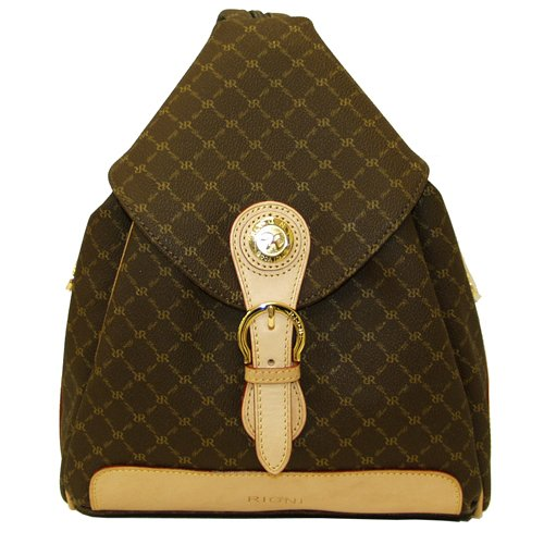rioni-signature-brown-zipper-strap-backpack-st20082