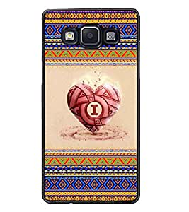 PrintDhaba Heart D-4039 Back Case Cover for SAMSUNG GALAXY A5 (Multi-Coloured)