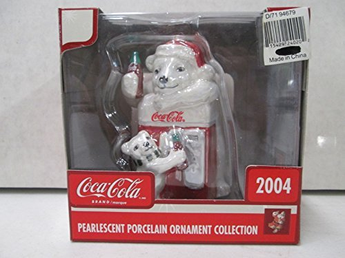 coca-cola-pearlescent-porcelain-ornament-collection-2004-polar-bear-on-cooler-w-little-bear-ornament