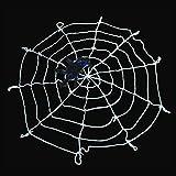MyMeiハロウィン飾り お化け屋敷装飾用品 クモの巣 蜘蛛の巣 メッシュワイヤー スパイダーウェブ ハロウィーン小道具 壁飾り 壁デコレーション 壁装飾 直径1.5m(ホワイト)