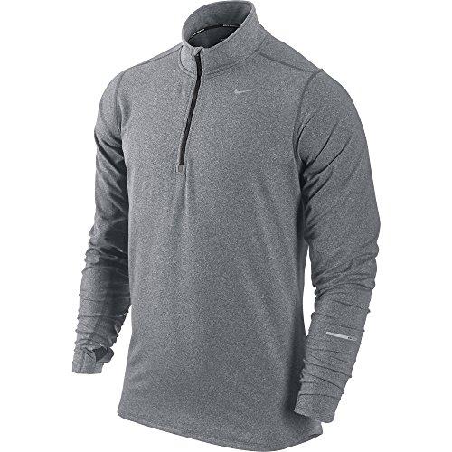 New Nike Men's Element Half-Zip Base Layer Top Anthracite/Htr/Black/Refl Silver Medium