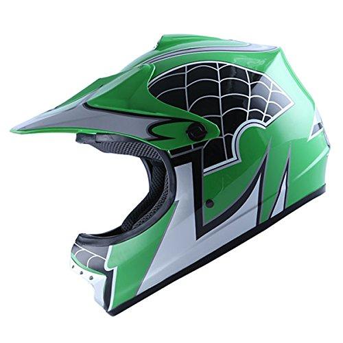 WOW-Motocross-BMX-Youth-ATV-Dirt-Bike-Green-Spider-MX-Helmet