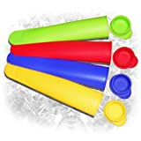 Popsicle Molds - V-Pop BPA Free Silicone Ice Pops Maker Set of 4 - Make Homemade Ice Cream Lolly Pop For Kids and Grown-Ups Alike - Create Any Flavour Ice Pop for Quick Treats or Hot Day with Ice Pop Mold - Fill Ice Pop Bags with Juice, Soda, Yogurt! - FREE Two-Day Shipping with Prime