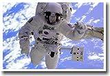 NASA Astronaut in Orbit - Educational Classroom Science POSTER