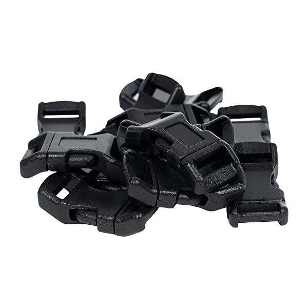 25-1//2 Inch White Economy Contoured Side Release Plastic Buckles