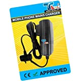 TK9K[TM] - MOBILE PHONE MAINS HOUSE BATTERY CHARGER FOR Sony Ericsson ONLY FOR G502 UK Spec 3 Pin Charger for NI-MH, LI-ION & LI-POL Batteries. - Rapid charge. - 12 Months Warranty - CE approved - Lightweight - Multi input voltage capability (240v, 50/60