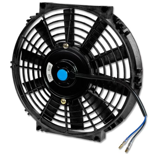 10 Inch High Performance Black Electric Radiator Cooling Fan Assembly Kit
