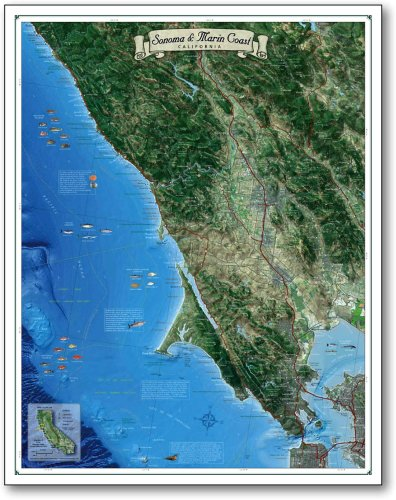 Map of the Sonoma & Marin Coast, California