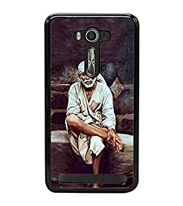 Sai Baba 2D Hard Polycarbonate Designer Back Case Cover for Asus Zenfone 2 Laser ZE550KL (5.5 INCHES)