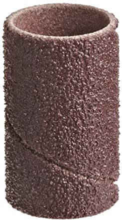 "3M Cloth Band 341D, 1/2"" Diameter x 1"" Width, 80 Grit, Brown (Pack of 100)"