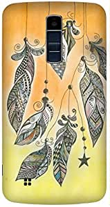Feather by Bhupinder Kaur Printed Back Cover Case For LG K10