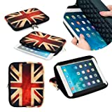 Neotechs® Vintage Union Jack Flag Neoprene Pouch Sleeve Carry Case Cover Stand for Amazon Kindle 7