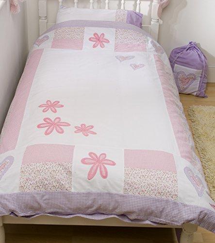 snuggle-sac-set-copripiumino-motivo-cuore-e-fiori-in-puro-cotone-colore-lavanda-bianco-singolo-200-x