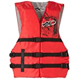 X20 Universal Adult Life Jacket Vest - Red & Black