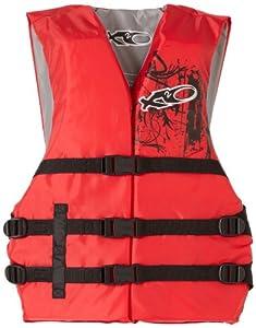 X20 Universal Adult Life Jacket Vest - Red & Black