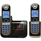 【並行輸入】Motorola DECT 6.0 Cordless Phone with 2 Handsets, Digital Answering System and Customizable Color Back Plates P1002コードレス留守番電話付き