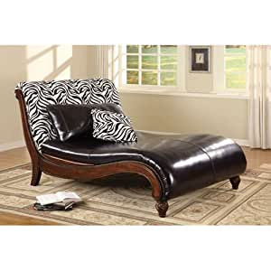 Zebra back chaise with matching accent for Accent traditional chaise by coaster