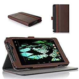 ProCase NVIDIA SHIELD Tablet K1 2015 / NVIDIA SHIELD 2014 Premium Folio Cover Case with Stand and Multiple viewing Angles (Brown/Black)
