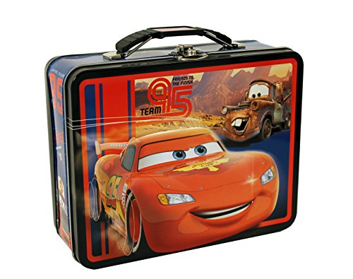 The Tin Box Company Disney Cars Large Tin Carry All - Colors may vary - 1