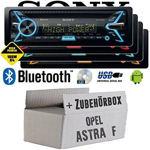 Opel Astra F - Sony MEX-XB100BT - Bluetooth | CD | MP3 | USB | 4x100 Watt Autoradio - Einbauset