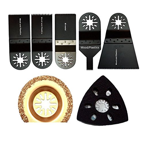 Diamond Semi Round Grout Tile Cut Oscillating Multi Tool Saw Blades For Fein Multimaster Bosch Ridgid Dremel Chicago,7Pieces