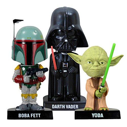 Bundle-Set-Of-3-Star-Wars-Bobbleheads-Yoda-Boba-Fett-Darth-Vader-Licensed-Figures-Funko