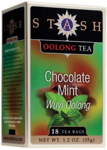 Stash Chocolate Mint Wuyi Oolong Tea, 18-Count, 1.2-Ounce Box (Pack of 6)