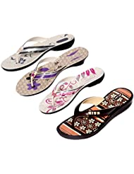 Krocs Super Comfortable Combo Pack Of 2 Pair Flip Flop With 2 Pair Slippers For Women (Pack Of 4 Pair) - B01JS6SYS6