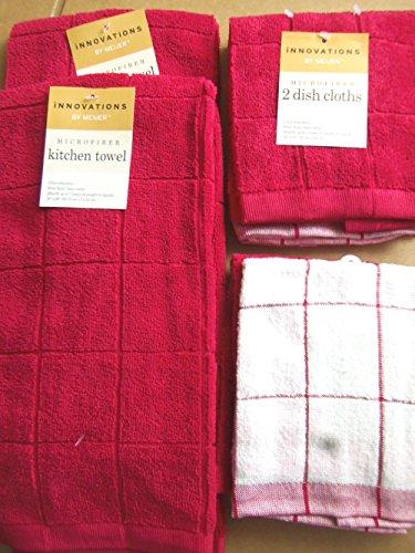 Kitchen Dish Glass - Six (6) Ultra Absorbent Microfiber Towel + Washcloth Set (6 Qt Dough Bucket compare prices)