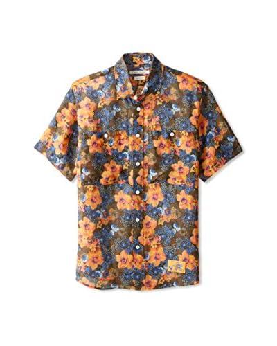 Marc Jacobs Men's Floral Short Sleeve Shirt