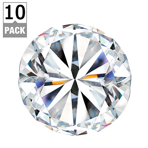 3S 10pcs 40mm Crystal Glass Diamond Shape Cabinet Knob Drawer Pull Handle Kitchen (Knob Pulls compare prices)