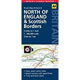 Road Map Britain 08 North of England & Scottish Borders 1 : 200 000