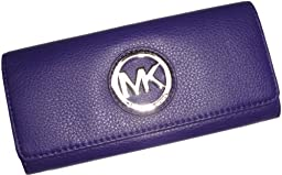 Michael Kors Fulton Flap Continental Clutch Wallet Iris
