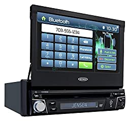 See Jensen VX3012 1 DIN Multimedia Receiver, 7-Inch Touch Screen with Bluetooth and Built-in USB Port (Black) Details