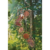 Flamed Copper Metal Spiral Hanging Mo…