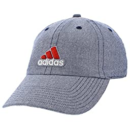 adidas Mens Ultimate Relaxed Cap, Midnight Chambray/Scarlet/White, One Size