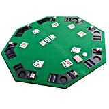 TEXAS CASINO GREEN OCTAGONAL POKER TABLE TOP 8 SEATER & CUP HOLDERS UKby Yousave